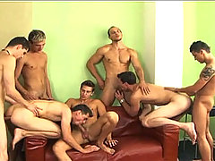 Horny Group Of Men Banging & Sucking Each Other Hardcore