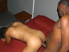 college ebony gays enjoy anal sex on the party